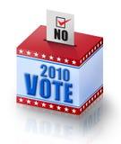 ¡NO. de 2010 votos! Imágenes de archivo libres de regalías