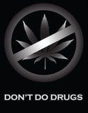 ¡No haga las drogas! ilustración del vector