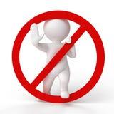 ¡No lo haga! Foto de archivo libre de regalías