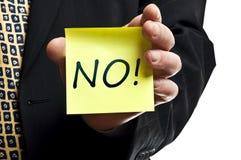 ¡No! palabra Fotografía de archivo