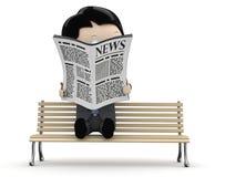 ¡Noticias calientes! Caracteres sociales 3D Fotografía de archivo