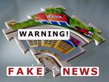 ¡Noticias falsas! Ejemplo para el lema moderno popular libre illustration
