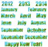 ¡Nuevo año ambiental feliz! Fotografía de archivo