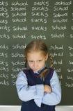 ¡Odio la escuela! Fotografía de archivo libre de regalías