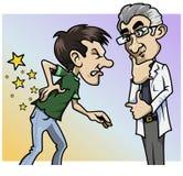 ¡Ouch! ¡Un qué dolor, doctor! Foto de archivo libre de regalías