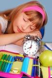 ¡Para despertar! ¡Hora para la escuela! Imagen de archivo libre de regalías