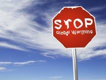 ¡PARE el calentamiento del planeta! ilustración del vector