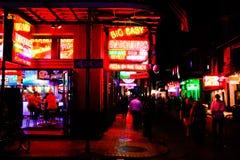¡Partido de calle de New Orleans Bourbon! Imagen de archivo libre de regalías