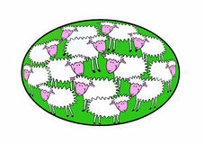 ¡Pascua feliz!!! stock de ilustración