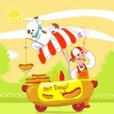 ¡Perritos calientes! Imagenes de archivo