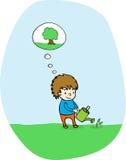 ¡Plante un árbol! ilustración del vector