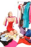 ¡Porciones de ropa y aún nada de desgastar! Imágenes de archivo libres de regalías