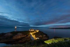 ¡Puesta del sol en las costas de Galicia, España! fotos de archivo