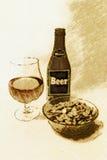 ¡Relájese con una cerveza! Ilustración del Vector