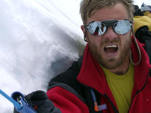¡Respire, escalador! Fotografía de archivo