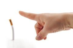 ¡Salga! Metáfora antifumador Imagen de archivo libre de regalías