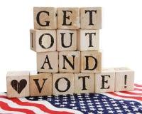 ¡Salga y vote! imagen de archivo libre de regalías
