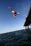 ¡Salto! foto de archivo