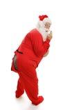¡Santa en pijamas - Ooops! fotos de archivo