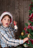 ¡Santa está aquí!!! Imagenes de archivo