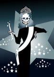 ¡Serie de la muerte - belleza! stock de ilustración