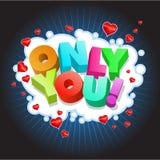 ¡Solamente usted! ilustración del vector
