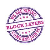 ¡Somos alquiler - las capas del bloque - venido y nos unimos a nos! Sello imprimible Foto de archivo libre de regalías