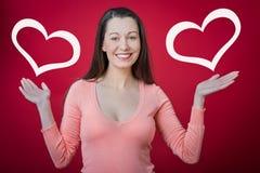 ¡Sorpresa del día de tarjeta del día de San Valentín! Imágenes de archivo libres de regalías