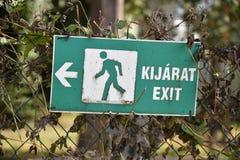 ¡T de la salida = del kijarà imagenes de archivo