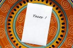 ¡TACOS! Foto de archivo