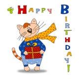 ¡Tarjeta de felicitación - feliz cumpleaños! Fotografía de archivo