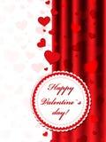 ¡Tarjeta del día de San Valentín feliz! Imágenes de archivo libres de regalías