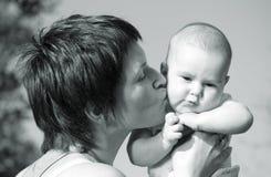 ¡Te amo muy mucho, mi bebé maravilloso! Fotos de archivo