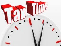 ¡tiempo del impuesto 3D! Imagen de archivo libre de regalías