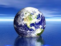 ¡Tierra en agua! LOS E.E.U.U. Imagen de archivo