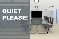 ¡Tranquilidad por favor! concepto Fotografía de archivo libre de regalías