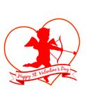 ¡Un Cupid de la tarjeta del día de San Valentín! EPS 8 Imagen de archivo libre de regalías