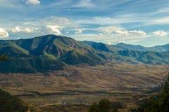 ¡Una opinión de la tarde de una montaña! imágenes de archivo libres de regalías