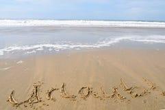¡Vacaciones! ¡Urlaub! Foto de archivo