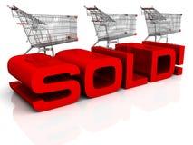 ¡Vendido! Imágenes de archivo libres de regalías