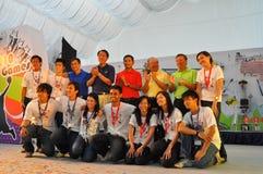 ¡VIPs y organizadores de la PODER de YOG! Acontecimiento Imagen de archivo libre de regalías