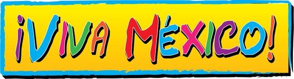 ¡Viva Mexico! Bandera Fotos de archivo