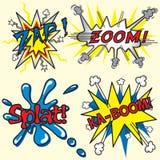 ¡Zap, enfoque, Ka-Auge, Splat! Imagen de archivo libre de regalías