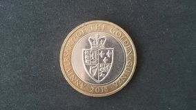 £2 Muntstuk Guinea het UK 2013 Royalty-vrije Stock Foto's