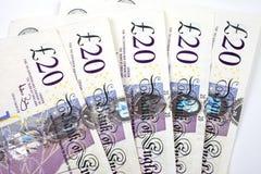 £20 Nota's Royalty-vrije Stock Afbeelding