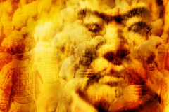 ¤ Tomb Warriors ¤. Photo Manipulation 3 photos of Japans Tomb Warriors Artistically done for emotions vector illustration