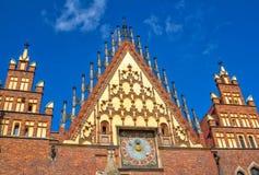 «Άποψη μερών αγορά Wroclaw τετραγωνικό †του όμορφου γοτθικού παλαιού Δημαρχείου Στοκ φωτογραφία με δικαίωμα ελεύθερης χρήσης