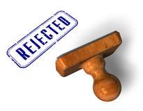 «Απορριφθε'ν» γραμματόσημο απεικόνιση αποθεμάτων