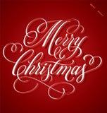 «Εγγραφή χεριών Merry Christmas' Στοκ Εικόνες