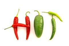 «ΚΑΥΤΑ» πιπέρια Στοκ φωτογραφία με δικαίωμα ελεύθερης χρήσης